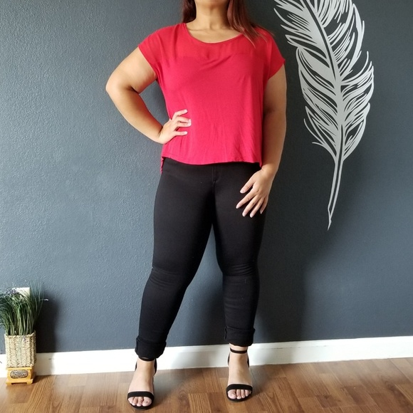 Ambiance Apparel Tops - Ambiance Apparel Red Top
